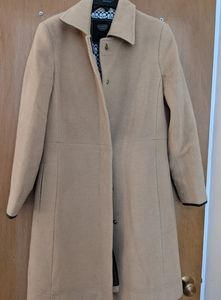 Vintage coach camel hair and leather coat